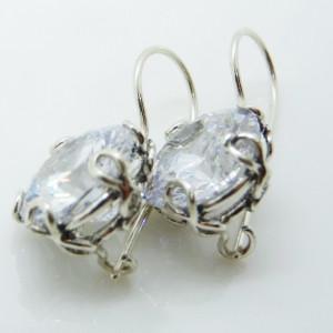 Cercei din argint cu zircon -E10979