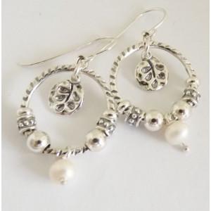 Cercei din argint perla E2367