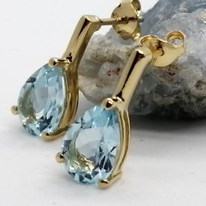 Cercei Erica -argint placat cu aur si topaz VE06771
