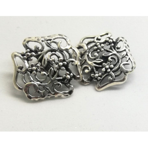 Cercei MARI din argint prindere centrala cu surub- E1365