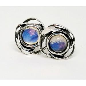 Cercei surub din argint - E7150- opalit