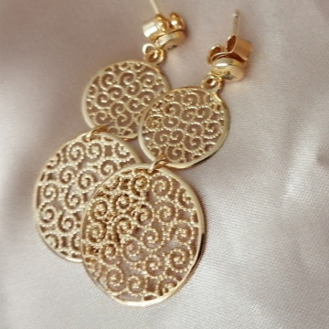 Cercei VICENZA- filigranati -argint placat cu aur galben - ORST4118PLMOD