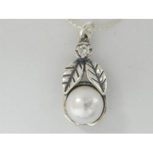Colier argint perla -E1726-1481