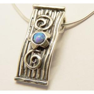 Colier din argint cu opal- N2629