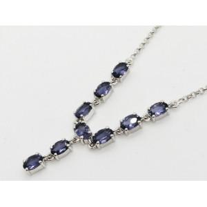 Colier LORI- argint cu iolit -VNCK015832