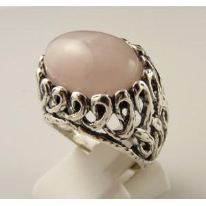 Inel argint cuart roz -R1588