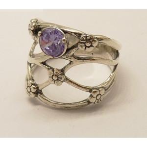 Inel argint lavander quartz R967