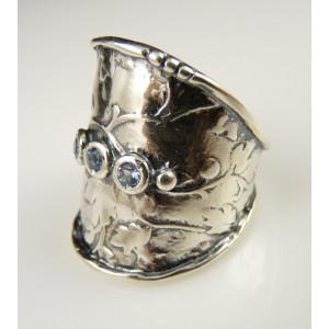 Inel argint masiv si TOPAZ R1752