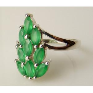 Inel argint onix verde-VR014252