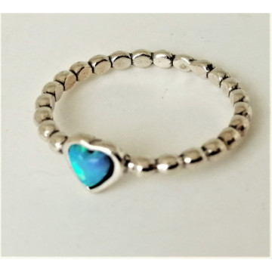 Inel argint opal inimioara-R11727
