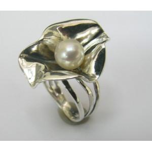 Inel argint perla R5871