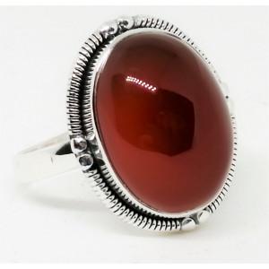 Inel argint - R35 onix rosu