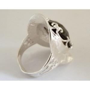 Inel argint R7244 -cuart fumuriu