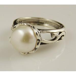 Inel din argint cu perla de cultura- R891