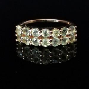 Inel IRENE-argint placat si aur -VR019978 peridot