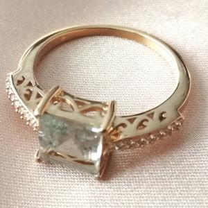 Inel Renata -argint placat si aur - ametist verde- VR031742