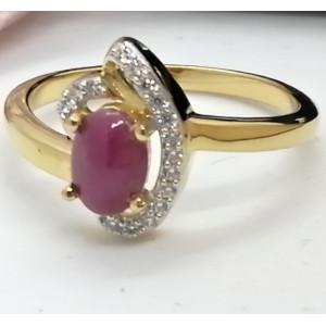 Inel Tamara -argint placat si aur -rubin-VR033200