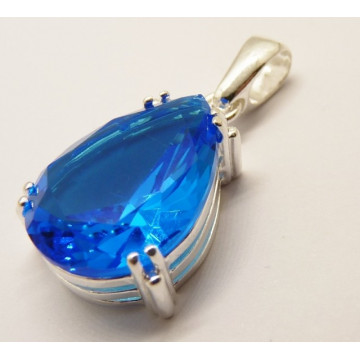 Pandantiv argint blue quartz -P3244 light