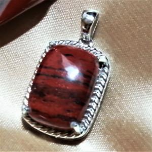 Pandantiv argint -VP015444- JASP rosu