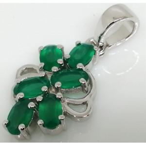 Pandantiv argint -VP016627 onix verde