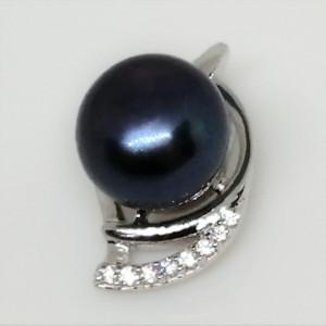 Pandantiv delicat din argint -perla neagra- VP029573
