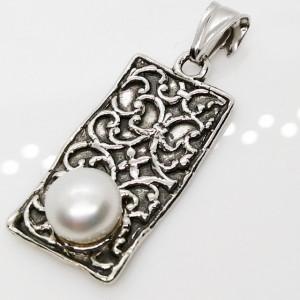 Pandantiv din argint perla -E10456