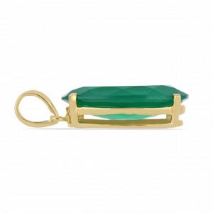 Pandantiv Evry -argint placat cu aur galben - VP05435 onix verde