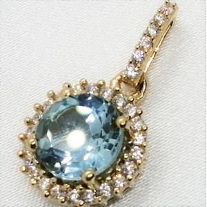 Pandantiv OLIVIA - argint placat cu aur -VP08186 topaz