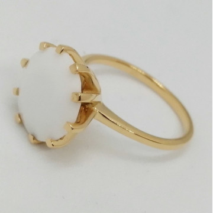 TROPEZ -Inel argint placat cu aur -onix alb-VR014712