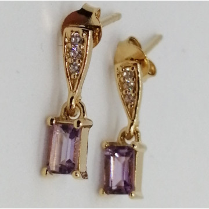 VIGO -cercei argint placat cu aur si pink ametist VE015169