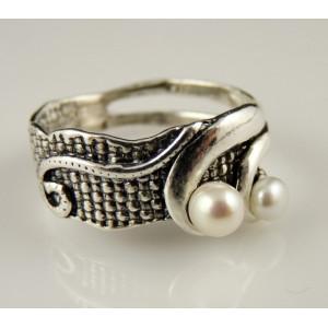 Inel argint perla A10707