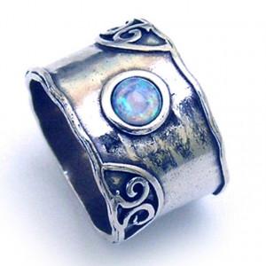 Inel argint cu opal nobil R1400