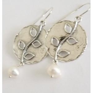 Cercei argint cu perla E1554