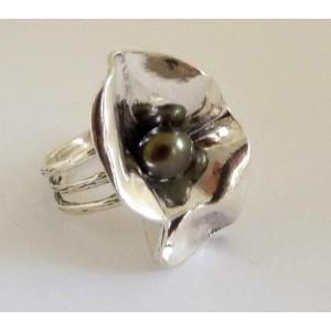 Inel argint perla gri R5871