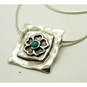 Colier din argint cu TURCOAZ- N2389A