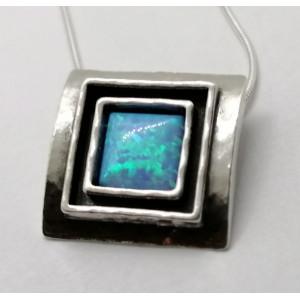 Colier argint opal N1844-1481