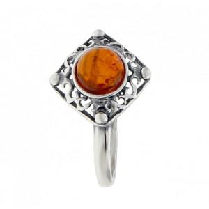 Inel argint chihlimbar R1796