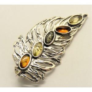 Brosa argint chihlimbar BRO2242-1