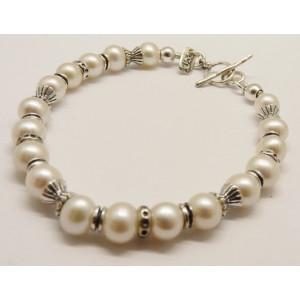 Bratara argint - perla B944