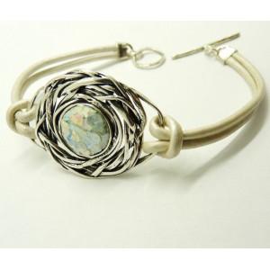 Bratara argint -sticla romana -B8085