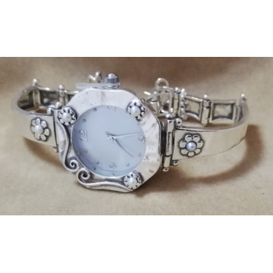Ceas argint perla-W1536