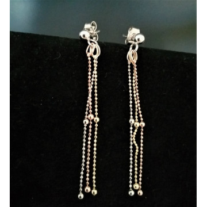 Cercei 3 culori -argint si argint placat cu aur galben si roz -ORSS3379RT3