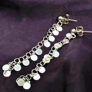 Cercei AMALFI - Bănuți- argint placat cu aur galben -ORMP1011RTD