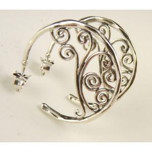 Cercei argint creole E11563