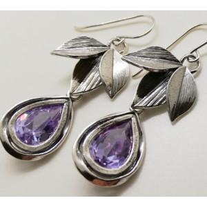 Cercei argint lavander quartz E3353
