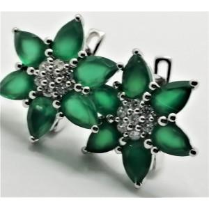 Cercei argint onix verde -VE012173