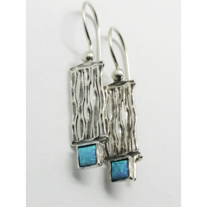 Cercei argint opal E4814