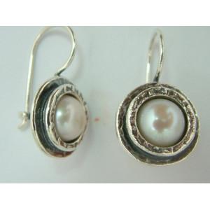 Cercei argint perla -E716