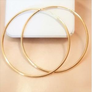 Cercei argint placat cu aur galben Creole - E3628- diametru 5,9 cm