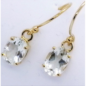 Cercei delicati- MIA-argint placat cu aur- VE015246-cristal alb